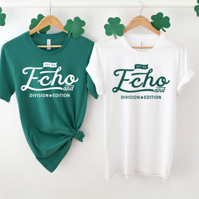 St Patrick's Day - Couple Shirt Mockup  - Bella Canvas 3001 White - Kelly Shirt - Outfit Flat lay - Apparel Photography #1049