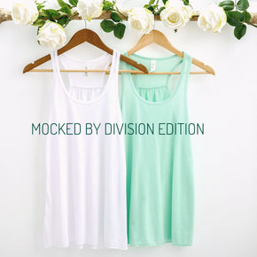 Bride Tank Mockup  - Bella Canvas 8800 tank top - Outfit Flat lay - Apparel Photography159