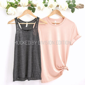 Couple Mockup  - Bella Canvas 3001 Shirt 8800 Tank top Mockup- Outfit Flat lay - Apparel Photography209