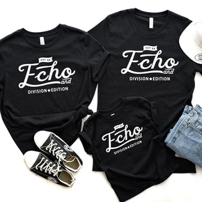 Family Mockup  - Bella Canvas 3001 Shirt - Black - 3001T Black - Outfit Flat lay - Apparel Photography #0378