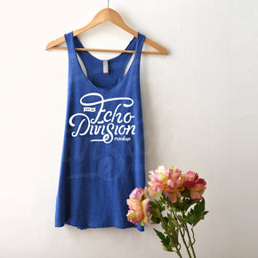 Tank top Mockup -Next Level - Women's Triblend Racerback Tank - 6733 Vintage Royal  -  Apparel photography #1374
