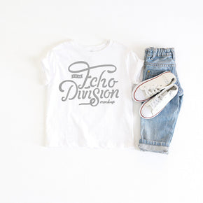 Shirt Mockup - Rabbit Skins - Toddler Fine Jersey Tee - 3321 White- Outfit Flatlay #1032