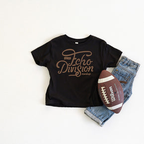 Football  Mockup - Shirt Mockup - Rabbit Skins - Toddler Fine Jersey Tee - 3321 Black - Outfit Flatlay #0381