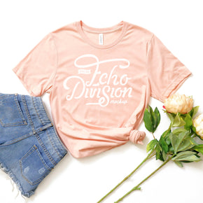 Shirt Mockup  - Bella Canvas 3001 Shirt - Heather Peach - Outfit Flat lay - Apparel Photography #0696