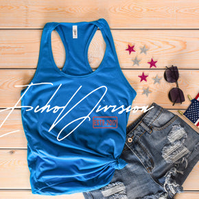 Next Level 1533 Turquoise | 4th of July Mockup with Flags | Women Ideal Racerback Tank | Summer Mockup | Styled Mockup | Flat Lay #0488