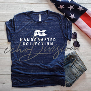 4th Of July Shirt Mockup  - Bella Canvas 3650 Navy Marble -  Outfit Flat lay - Apparel Photography #00048