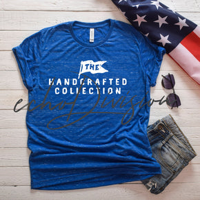 4th Of July Shirt Mockup  - Bella Canvas Unisex Cotton/Polyester Tee - 3650 Royal Marble -  Outfit Flat lay - Apparel Photography #00049