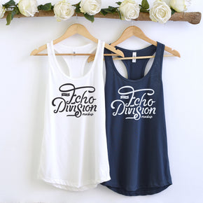 Couple Mockup  - Next level 1533 White - Indigo  Tank top Mockup- Outfit Flat lay - Apparel Photography234