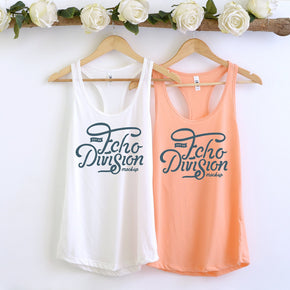 Couple Mockup  - Next level 1533 White - light Orange Tank top Mockup- Outfit Flat lay - Apparel Photography236