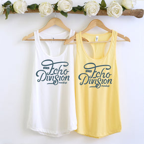 Couple Mockup  - Next level 1533 White -  Banana Cream Tank top Mockup- Outfit Flat lay - Apparel Photography229