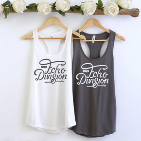 Couple Mockup  - Next level 1533 White -   Dark Grey Tank top Mockup- Outfit Flat lay - Apparel Photography228