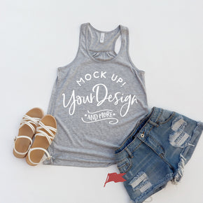 Tank Top Mockup -Bella + Canvas - Women's Flowy Racerback Tank - 8800 Athletic - Apparel Photography #1187