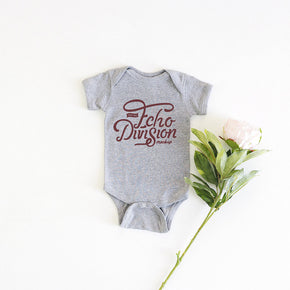 Onesie Mockup -Rabbit Skins - Infant Baby Rib Bodysuit - 4400 Heather - Outfit Flatlay #0497