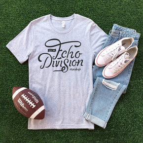 Shirt Mockup  - Bella Canvas 3001 Shirt - Athletic Heather - Football Mockup - Outfit Flat lay - Apparel Photography #0635
