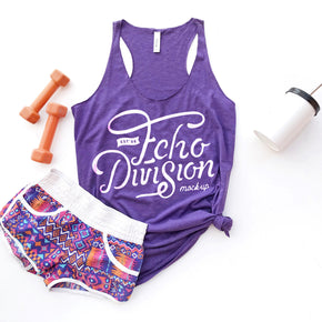 Tank Top Mockup - Bella + Canvas - Women's Triblend Racerback Tank 8430 Purple  Triblend - Apparel Photography #1084