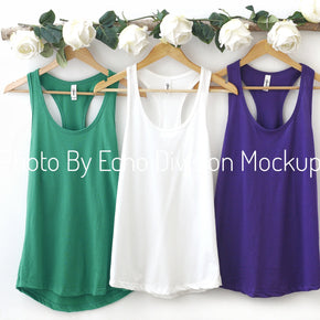Couple Mockup  - Next level 1533 White - Purple - Envy - Tank top Mockup- Outfit Flat lay - Apparel Photography244