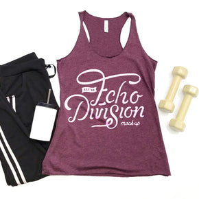 Tank Top Mockup - Bella + Canvas - Women's Triblend Racerback Tank 8430 Maroon Triblend - Apparel Photography #1082