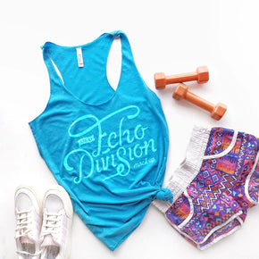 Tank Top Mockup - Bella + Canvas - Women's Triblend Racerback Tank 8430 Aqua Triblend - Apparel Photography #1076