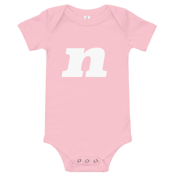 Baby's initial babygrow -'N'