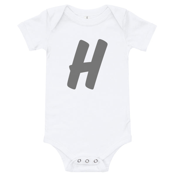 Baby's initial babygrow -'H'