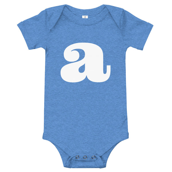 Baby's initial babygrow -'A'