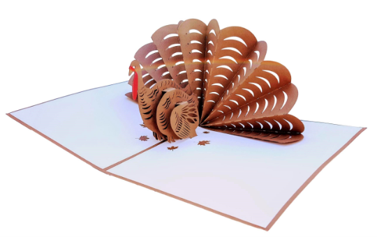 Thanksgiving Turkey 3D Pop Up Greeting Card 4