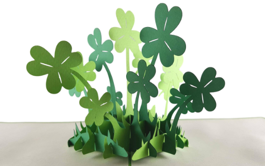 St. Patrick's Shamrock 3D Pop Up Greeting Card 2