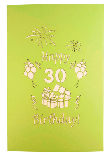 Happy 30th Birthday With Lots of Presents 3D Pop Up Greeting Card 9