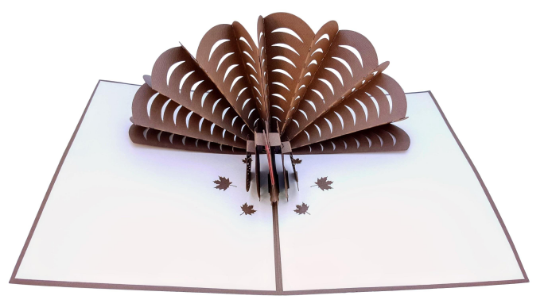 Thanksgiving Turkey 3D Pop Up Greeting Card 3