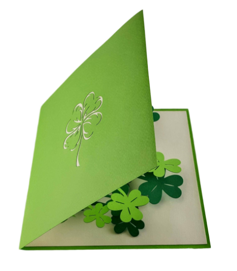 St. Patrick's Shamrock 3D Pop Up Greeting Card 4