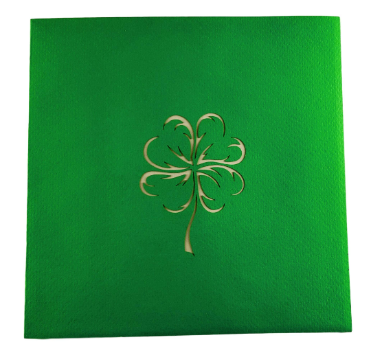 St. Patrick's Shamrock 3D Pop Up Greeting Card 5