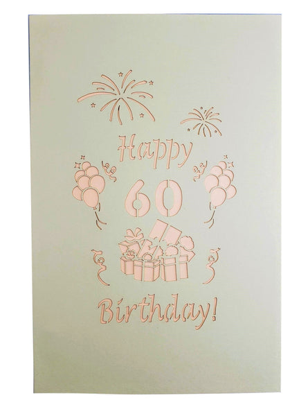 Happy 60th Birthday With Lots of Presents 3D Pop Up Greeting Card 8
