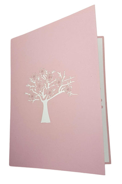 Cherry Blossom (Pink Cover) 3D Pop Up Greeting Card 4