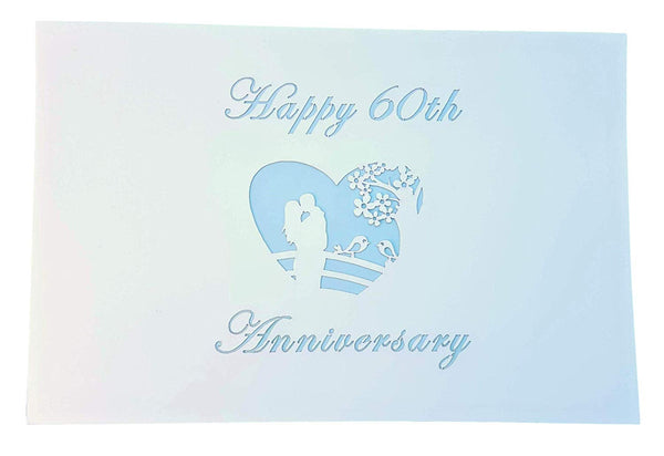 Happy 60th Anniversary 3D Pop Up Greeting Card 6