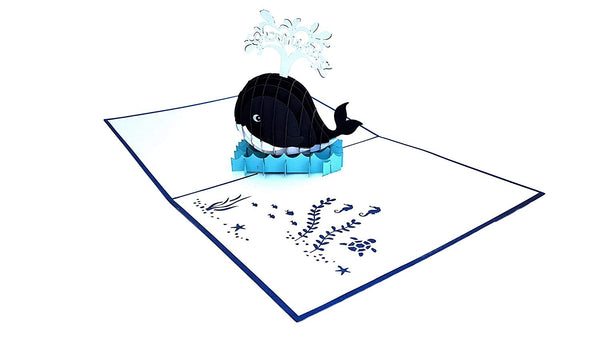 Unique Congratulations Whale (Blue Cover) 3D Pop Up Card 4