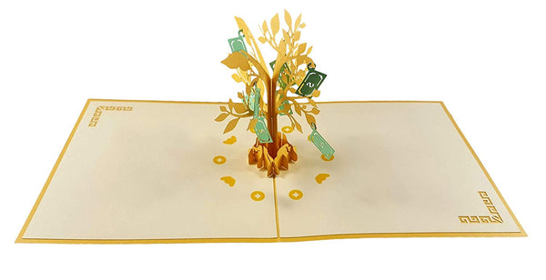 Money Tree 3D Pop Up Greeting Card 5