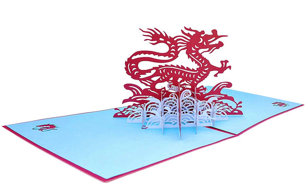 Dragon 3D Pop Up Greeting Card 3