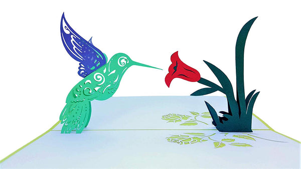 Hummingbird 3D Pop Up Greeting Card 2