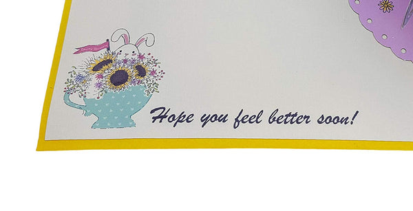 Sunflower Get Well 3D Pop Up Greeting Card 6