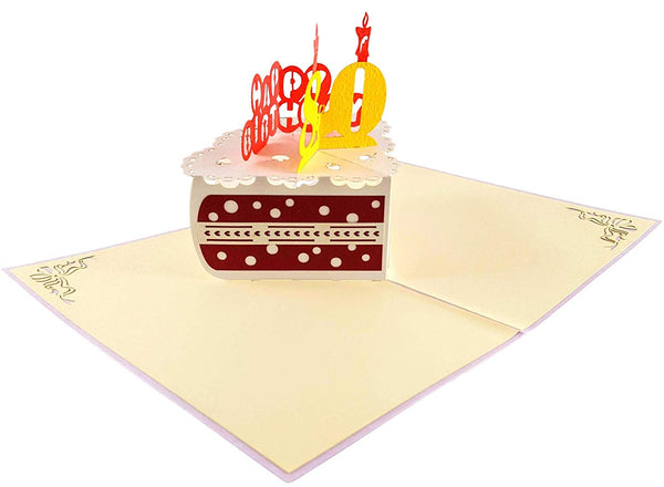 Happy 80th Birthday Cake 3D Pop Up Card 4