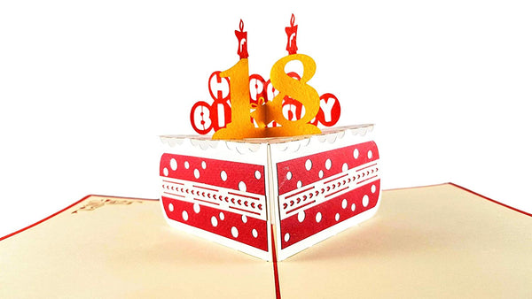 Happy 18th Birthday Cake 3D Pop Up Card 2