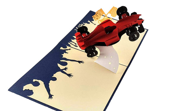 Formula 1 3D Pop Up Greeting Card 5