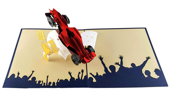 Formula 1 3D Pop Up Greeting Card 4