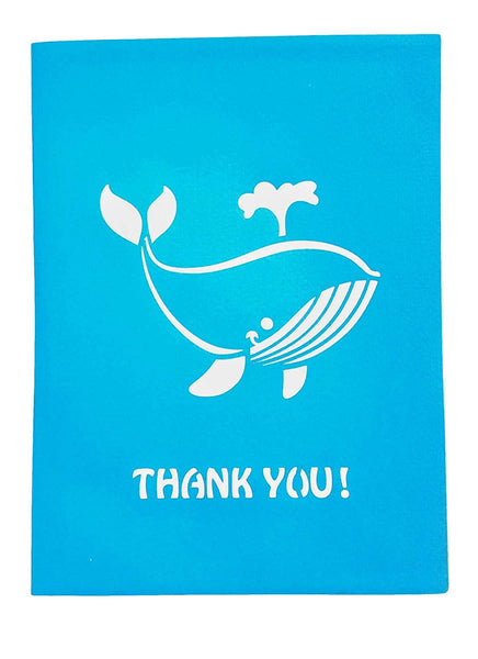 Cute Blue Whale Thank You 3D Pop Up Greeting Card 6