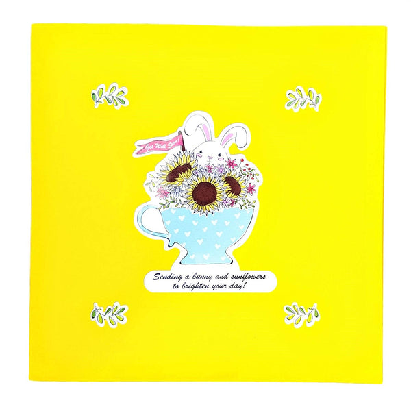 Sunflower Get Well 3D Pop Up Greeting Card 8