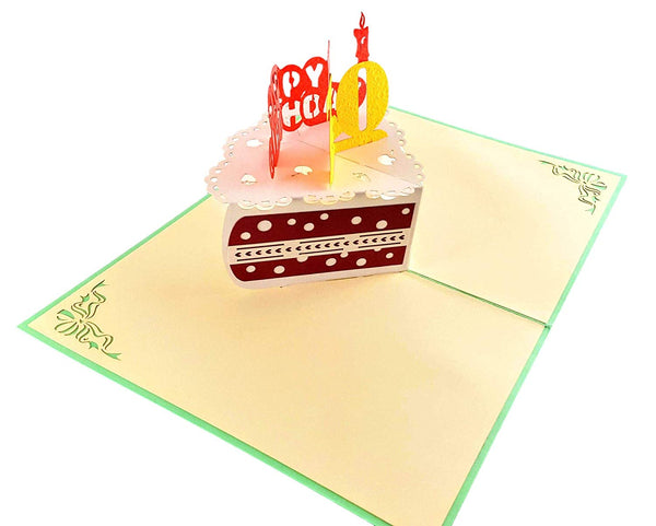 Happy 70th Birthday Cake 3D Pop Up Card 4