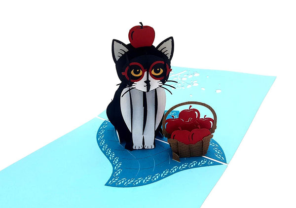 Tuxedo Cat 3D Pop Up Greeting Card 3