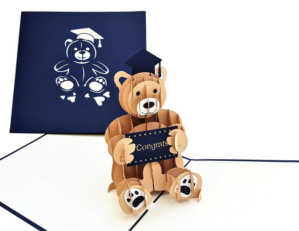 Graduation Bear 3D Pop Up Greeting Card 3