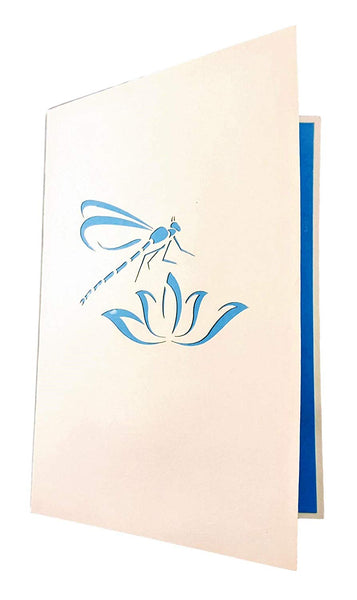 Blue Dragonfly 3D Pop Up Greeting Card 5