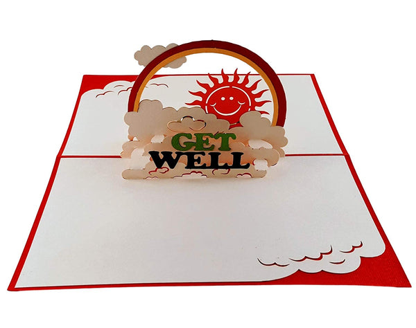 Sunshine Get Well 3D Pop Up Greeting Card 3